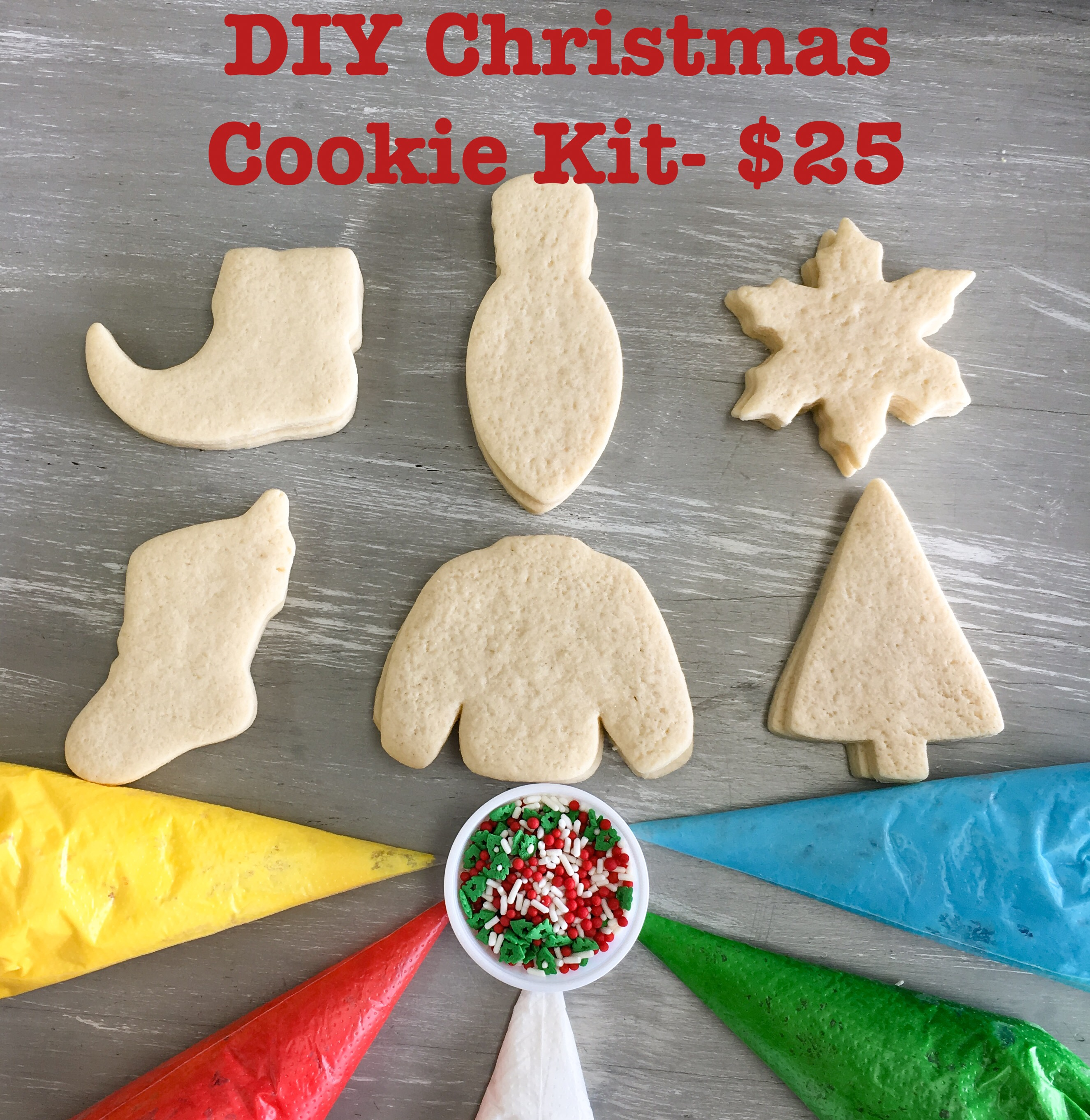 Diy Christmas Cookie Decorating Kit Shipped